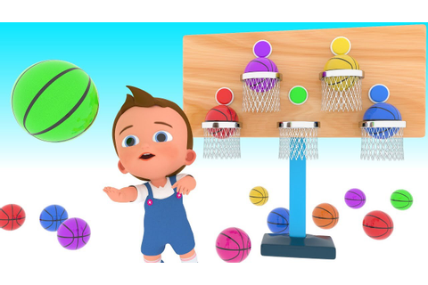 Basketball Game Play by Little Baby to Learn Colors for ...