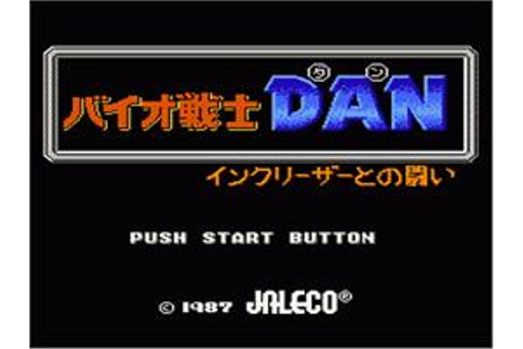 Bio-Senshi Dan: Increaser to no Tatakai - Nintendo NES ...
