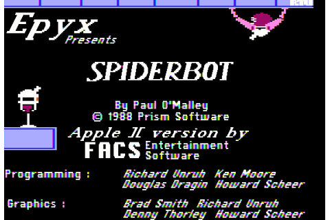 Arac (1988) by FACS Entertainment Software Apple II E game