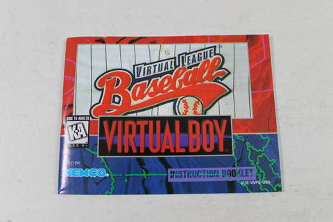 Manual - Virtual League Baseball - Virtual Boy