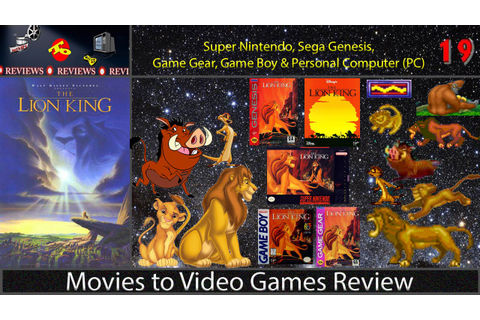 Movies to Video Games Review -- The Lion King (Super ...