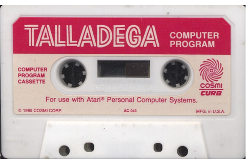 Atari 400 800 XL XE Richard Petty's Talladega : scans ...