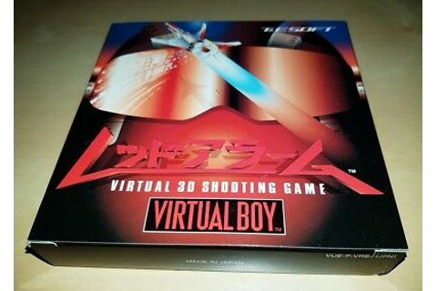 Nintendo Virtual Boy Game Red Alarm Japan BRAND NEW MIB ...