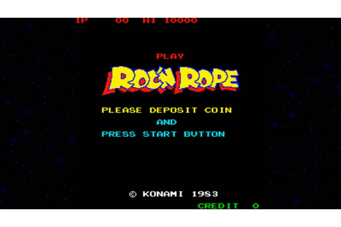 Roc'n Rope 1983 Konami Mame Retro Arcade Games - YouTube