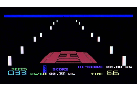 C64 Commodore 64 Night Driver game review - YouTube