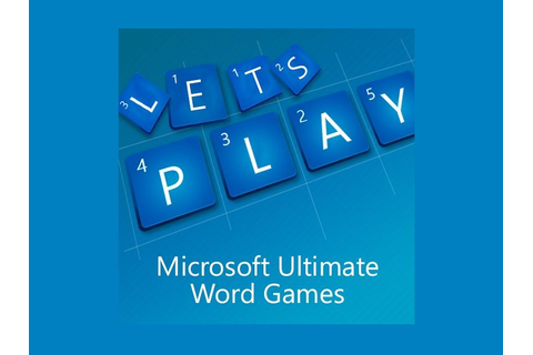 Microsoft Ultimate Word Games is the next title from the ...