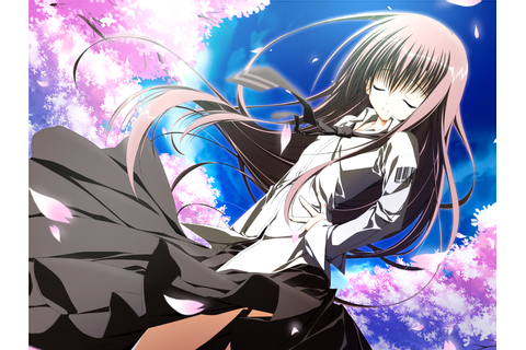 game cg long hair sakura no uta skirt tagme tie | konachan ...