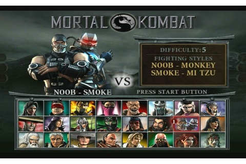 mk deception player select screen | mortal kombat 6 ...
