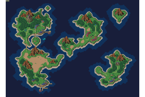 Image - Chrono Trigger world map 1000 AD.png | Nintendo ...