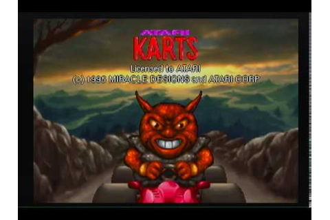 Atari Karts Jaguar Video Game Long Play Part 1 - YouTube