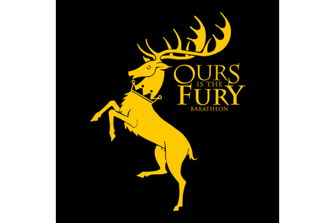 Ours Is The Fury T-shirt - House Baratheon | Official Game ...