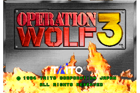 Operation Wolf 3, Arcade Video game by Taito (1994)