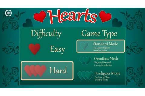 Free Windows 8 Hearts Game App: Hearts Deluxe
