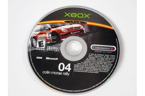 Colin McRae Rally 04 game for Xbox (Loose) | The Game Guy