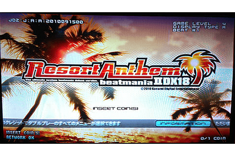 beatmania IIDX 18 Resort Anthem arcade video game by ...