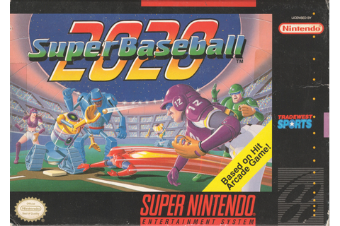 Super Baseball 2020 SNES Super Nintendo