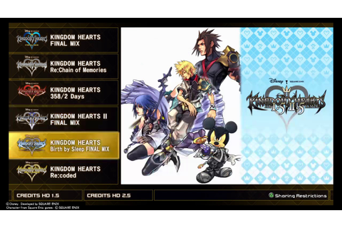 Kingdom Hearts HD 1.5+2.5 Remix (PS4) Title Screen - YouTube