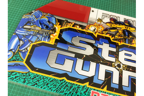 Steel Gunner Namco original perspex marquee *SOLD OUT ...