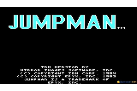 Jumpman gameplay (PC Game, 1984) - YouTube