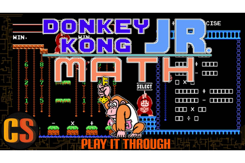 DONKEY KONG JR MATH - PLAY IT THROUGH - YouTube