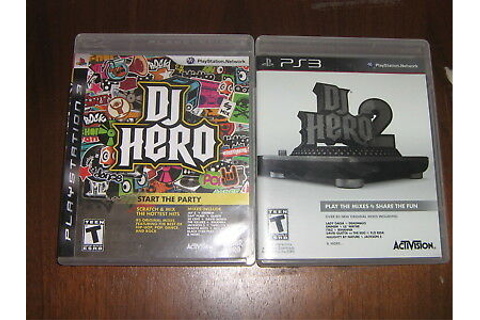 Dj Hero & Dj Hero 2 - PlayStation 3 PS3 Video Game ...