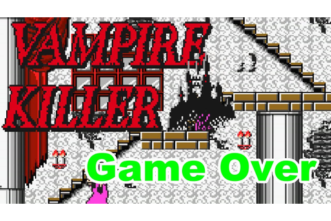 Vampire Killer [MSX] - Game Over - YouTube