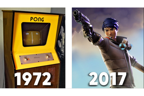 Most Popular Video Games Through the Years (1972-2017 ...