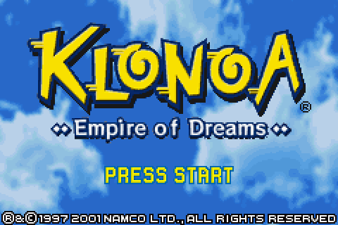 Klonoa: Empire of Dreams (2001) by Namco GBA game