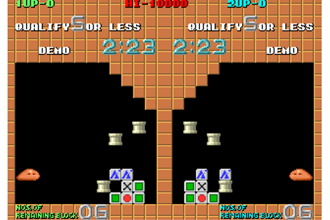 Plotting arcade video game by Taito (1989)