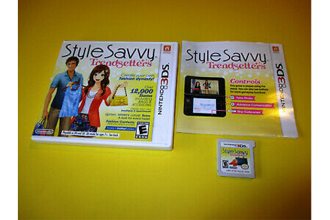 Style Savvy: Trendsetters Nintendo 3DS XL 2DS Game w/Case ...