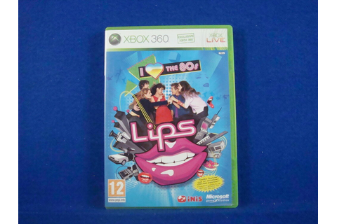 xbox 360 LIPS I LOVE THE 80'S Solus Game MINT DISC ...