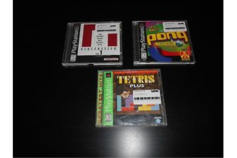 Pong Tetris Plus Namco Museum Vol 1 Complete Playstation ...