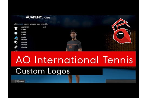 A sneak peak at the AO International Tennis decal creator ...