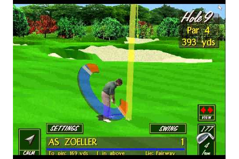 IE 7 PC games review - PGA Tour 486 (1994) - YouTube