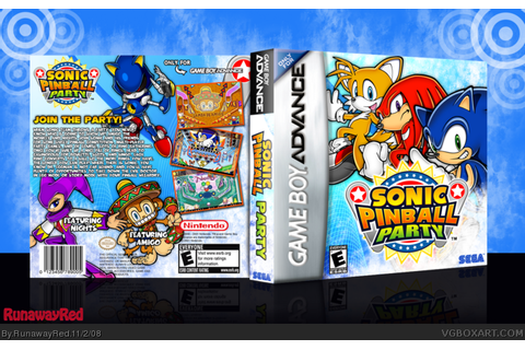 Sonic Pinball Party Game Boy Advance Box Art Cover by ...