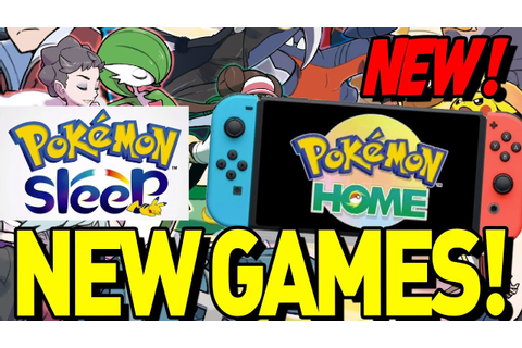 HUGE NEWS! NEW POKEMON GAMES AND MORE! Pokemon Home ...