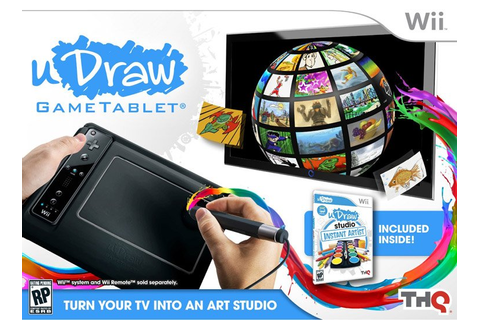 uDraw Gametablet with uDraw Studio Instant Artist Nintendo ...