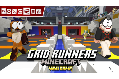 Minecraft Bedrock: Grid Runners Mini-Game #1 | Race for ...