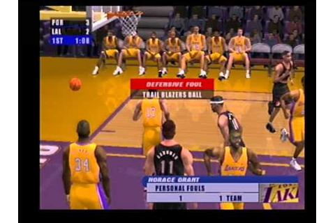 nba live 2001 ps2 gameplay - YouTube