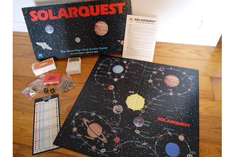 Vintage 1986 Solarquest Board Game Complete by ...