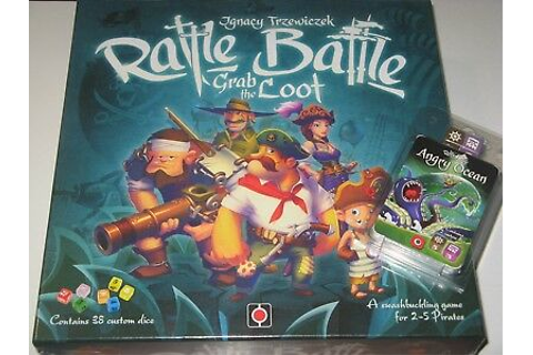 Rattle,Battle,Grab the Loot+expansion NEW SW pirate dice ...