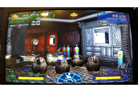 Arcade Aliens Extermination Game Dave & Buster's! ホラーゲーム ...