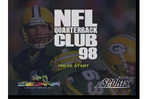 NFL Quarterback Club '98 Nintendo 64 Game