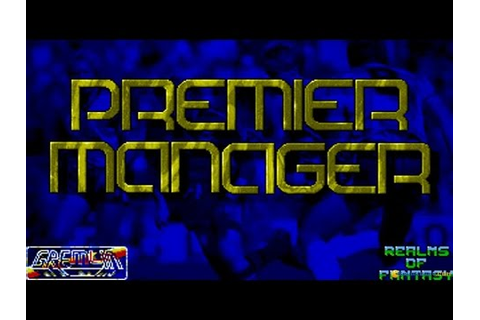 Premier Manager gameplay (PC Game, 1992) - YouTube