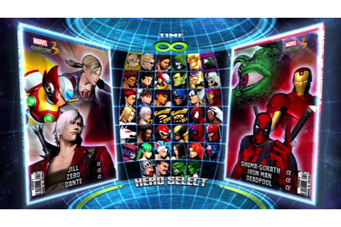 Marvel vs. Capcom 3: Fate of Two Worlds All Characters ...