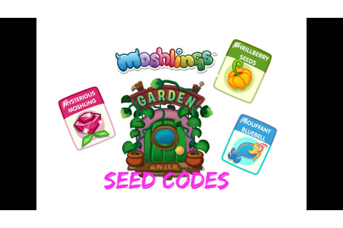 Moshi Monsters- 6 secret moshling seeds! - YouTube