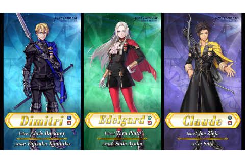 Three Houses characters coming to Fire Emblem Heroes ...