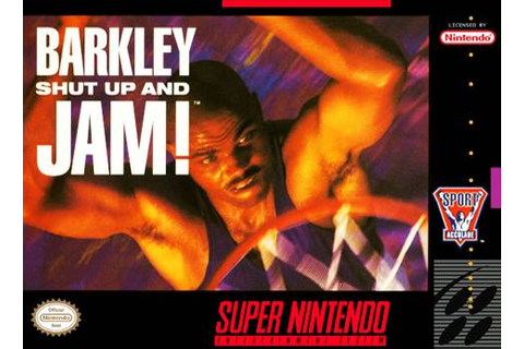 Barkley Shut Up and Jam SNES Super Nintendo