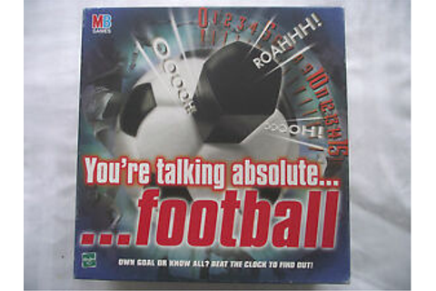 YOUR TALKING ABSOLUTE FOOTBALL / ELECTRONIC BOARD GAME ...