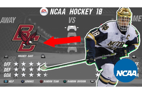 EA Sports NCAA Hockey 18 - YouTube